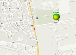 Hostel Chorzów mapa dojazdu
